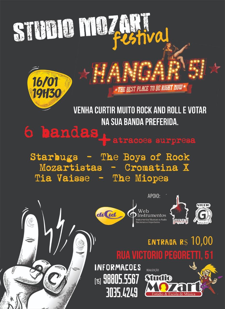 Festival Hangar 51, venha conhecer!!