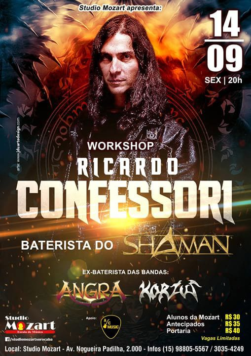 Workshop com Ricardo Confessori 14/09